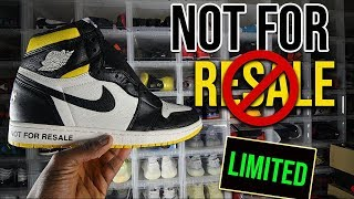 Air Jordan 1 Not For Resale LA Exclusive Black and Yellow review