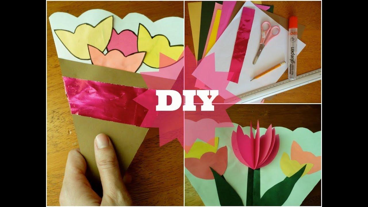 Tarjeta Ramo Floral Dia de las Madres Manualidades para niños YouTube