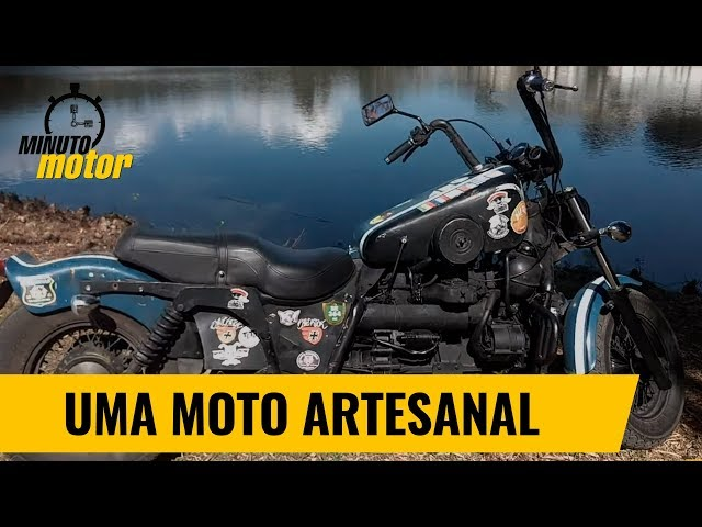 COM MOTOR FORD, MOTO ARTESANAL JÁ RODOU 150 MIL QUILÔMETROS