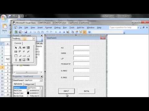 Membuat Aplikasi Form Sederhana di Ms  Excel #1