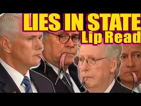D3 Bush FUN Lies in State Parody of the gODS Among Us- LIES in State, Wreath Ceremony Lip Reading