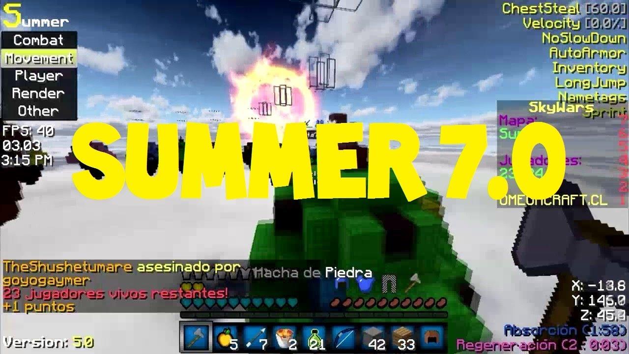 Minecraft Hacked Client | Summer 7 0 | FREE DOWNLOAD