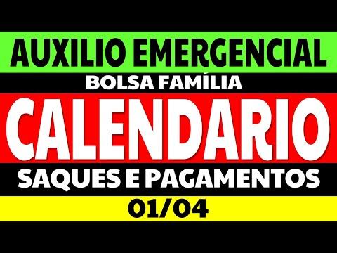 01/04 CALENDÁRIO AUXÍLIO EMERGENCIAL 2021 CALENDÁRIO DE PAGAMENTOS E SAQUES AUXILIO EMERGENCIAL
