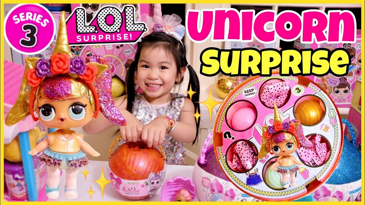 authorized site online shop latest LOL UNICORN SURPRISE Confetti Pop Series 3 Wave 2 | Full Unboxing of Custom  DIY LOL Pearl Surprise