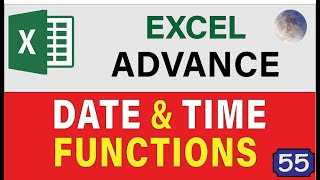 20 Excel Date and Time Functions & Formulas, Excel Tips and Tricks 2019 Training Tutorial