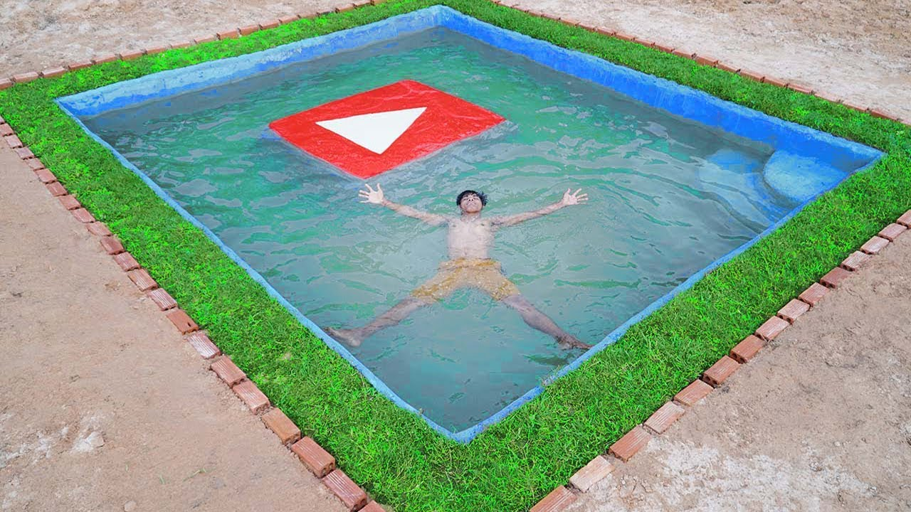 Building The Most Beautiful Swimming Pool At Home Youtube