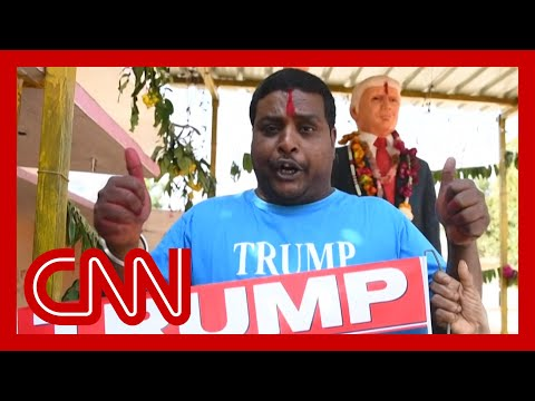 Man Builds Shrine To Trump For His Visit
