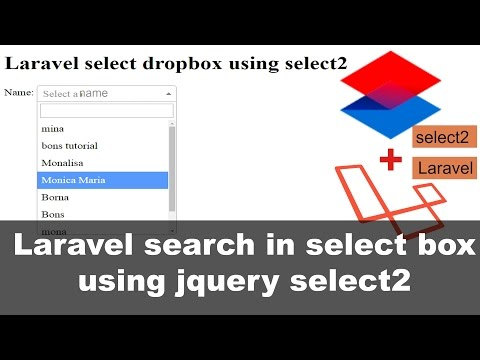 Laravel search in select Box using jquery  select2 thumbnail