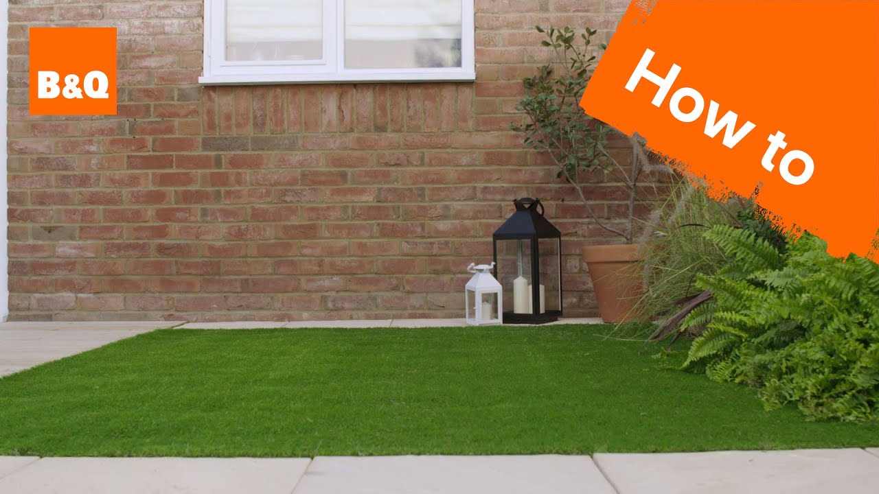 How to lay artificial grass - YouTube