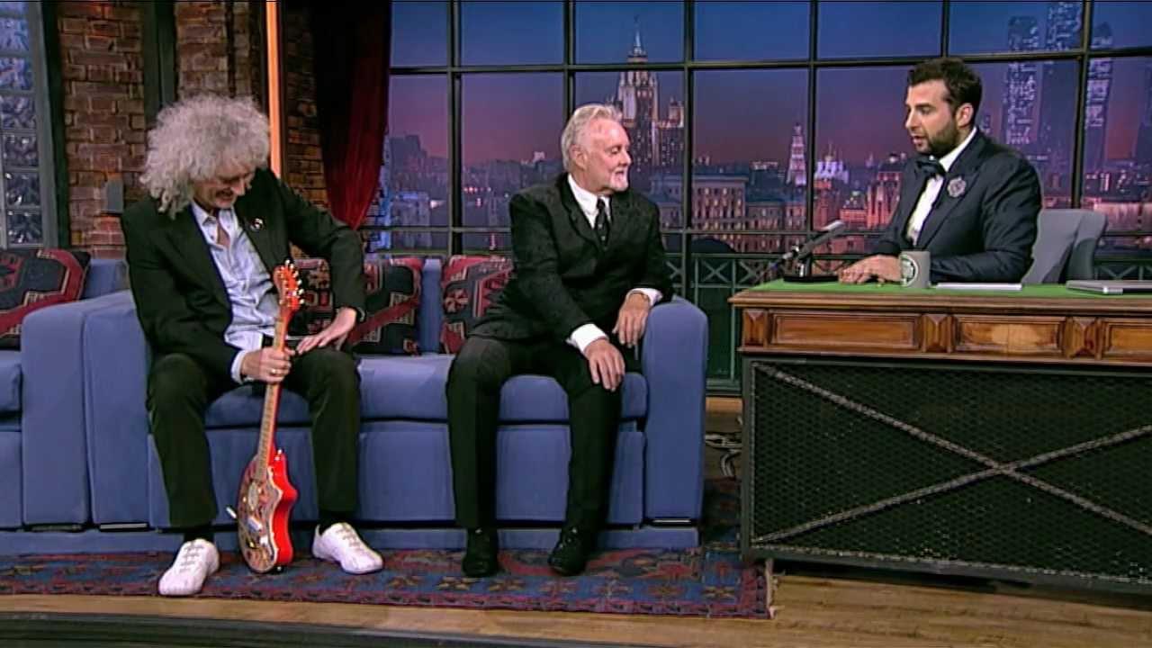 Музыканты группы Queen Брайан Мэй и Роджер Тэйлор. Вечерний Ургант. (29.06.2012)