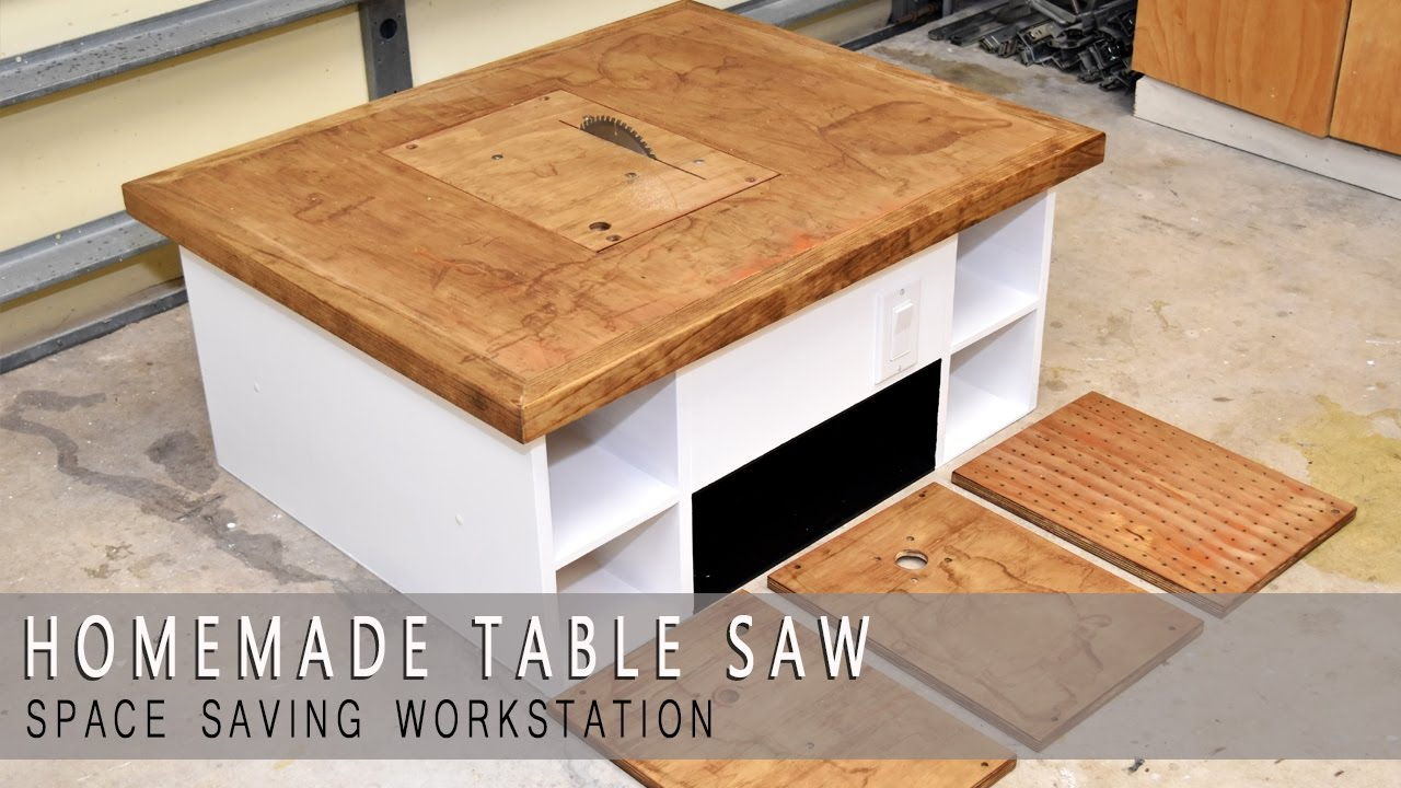 4 in one homemade table saw modular plans available youtube greentooth Choice Image