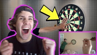 HE THREW DARTS AT OUR HANDS!! (PAINFUL)