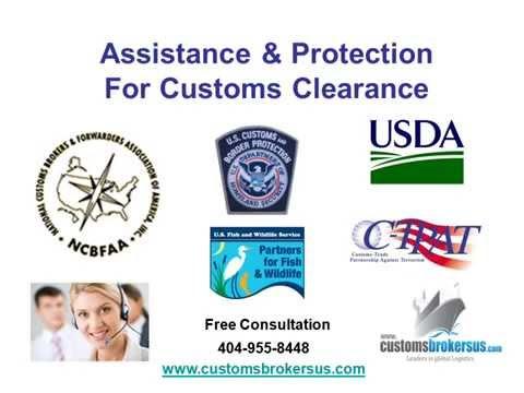 Looking For  A Licensed U.S. Customs Broker?
