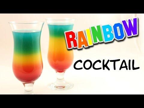 Rainbow Cocktail mit & ohne Alkohol möglich I Rainbow Drink I ...