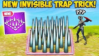 *NEW TRICK* MAKE TRAPS INVISIBLE! - Fortnite Funny Fails and WTF Moments! #355