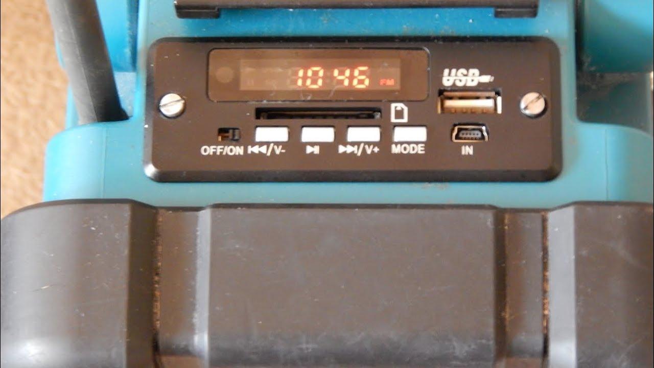 Makita Entfernungsmesser Nachrüsten : Makita radio mit usb mp player modul youtube