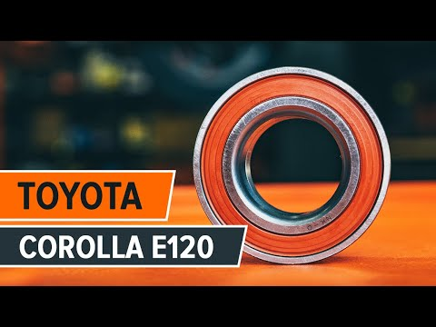 How to replace front wheel bearing TOYOTA COROLLA E120 TUTORIAL | AUTODOC