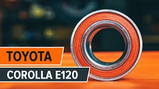 How to change front wheel bearing TOYOTA COROLLA E120 TUTORIAL | AUTODOC