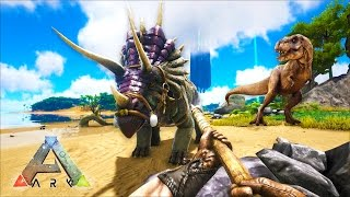 ARK: Survival Evolved - MOUNTAIN FORTRESS! (ARK: Survival Evolved Gameplay)