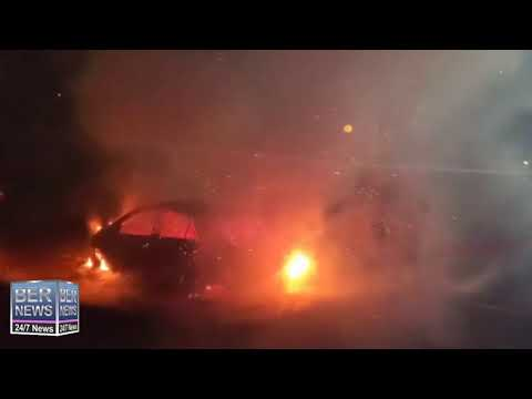 BFRS Extinguish Car Fire In Southampton, Aug 31 2020