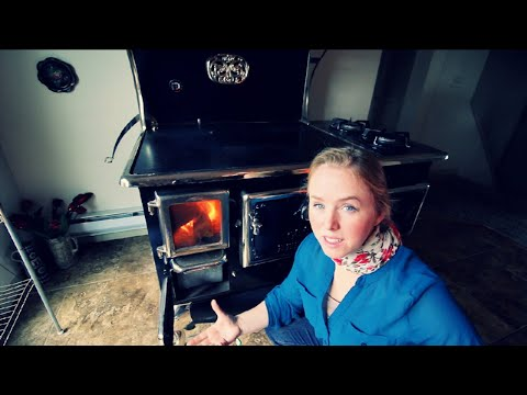 Installing The Wood Cook Stove And First Burn