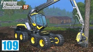 Drwal w lesie (Farming Simulator 15 #109), gameplay pl