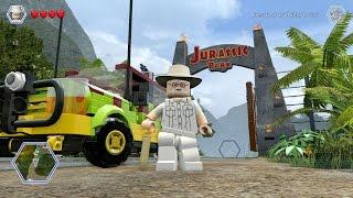 LEGO Jurassic World - John Hammond - Jurassic Tour Vehicle Free Roam Gameplay (PC HD) [1080p]