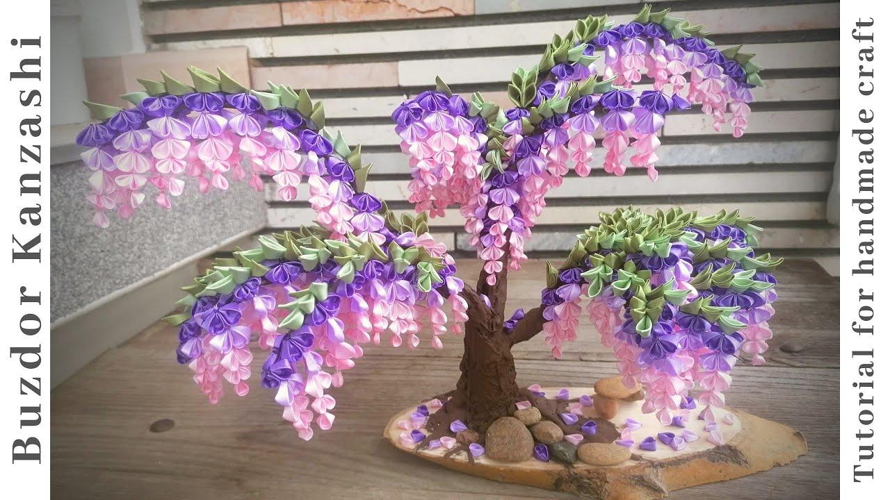 Kanzashi fa, ahogy én készítettem... / Kanzashi tree