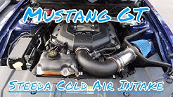 2011 to 2014 Mustang GT Steeda Cold air Intake Unboxing and install