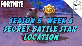 (PS4) Fortnite Saison 5 Semaine 4 Secret Battle Star Emplacement!