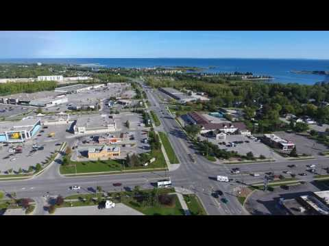 Aerial Time Lapse Of Collingwood Ontario