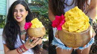 Tropical Mango & Pineapple Sorbet! FullyRaw Vegan Recipe!