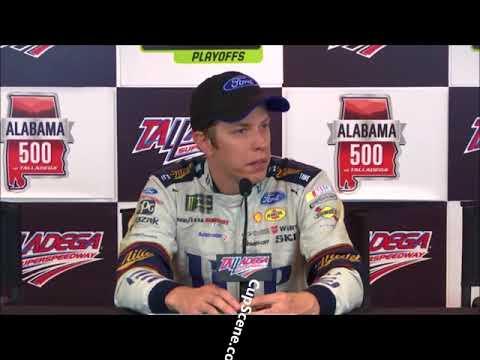 NASCAR at Talladega Superspeedway Oct. 2017:  Brad Keselowski post race