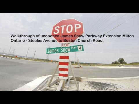 James Snow Parkway Extension Milton Ontario