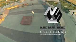 Aerial View of Airdrie Skatepark for New Line Skateparks