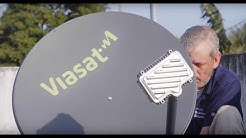 What does a typical Viasat Business installation look like?