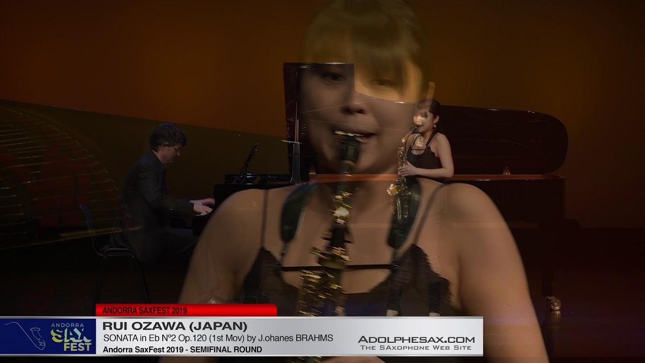 Andorra SaxFest 2019 Semifinal   Rui Ozawa   Sonata in Eb Nº2 by J  Brahms