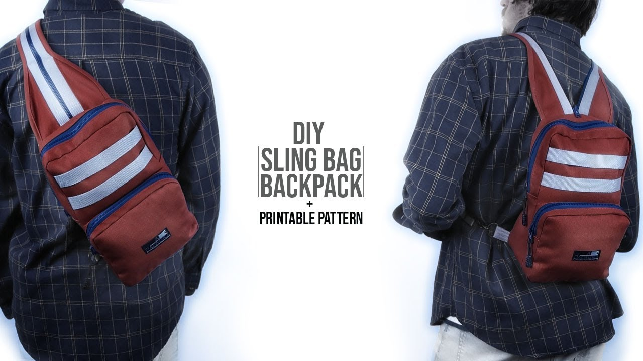 Denim Triangle bag and backpack in one