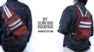 Sling Bag Backpack DIY