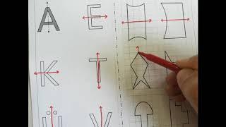 Harflerin ve Şekillerin Simetri Doğrusu