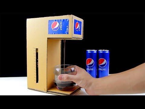 Thumbnail: How to Make Pepsi Cola Fountain Machine from Cardboard!