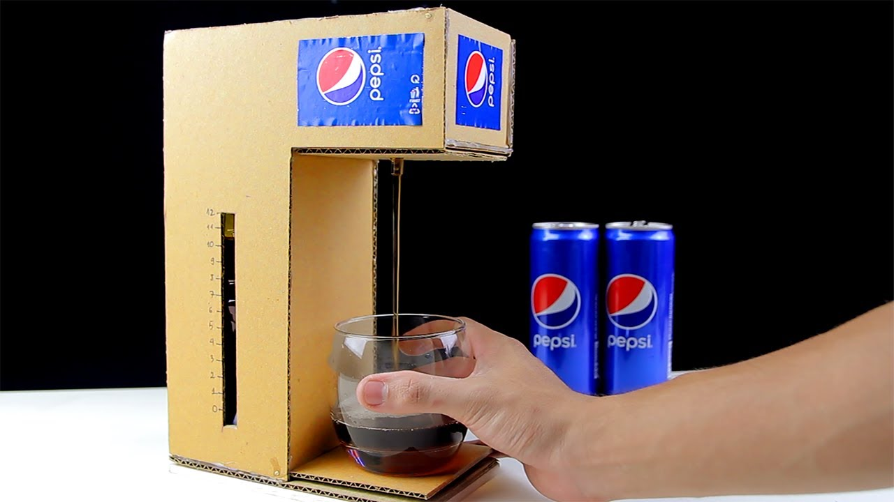 How To Make Pepsi Cola Fountain Machine From Cardboard