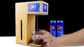 How to Make Pepsi Cola Fountain Machine from Cardboard!