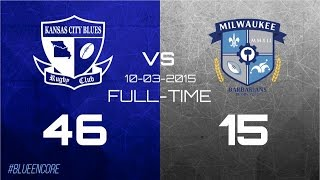 Kansas City Blues Rugby Club vs Milwaukee Barbarians Fall 2015 Highlights