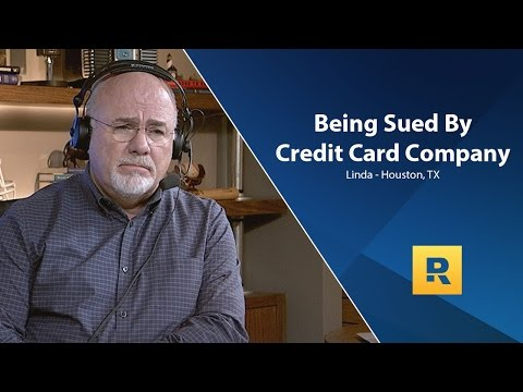 Being Sued By Credit Card Company