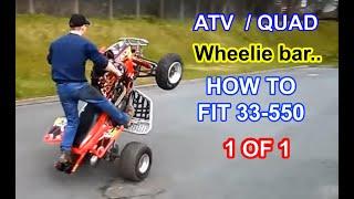 33-550 Tag-Z ATV / Quad Wheelie bar, Install and demo! TRX 450 R