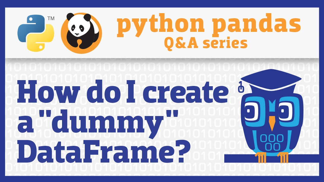 How do I create a pandas DataFrame from another object? - YouTube