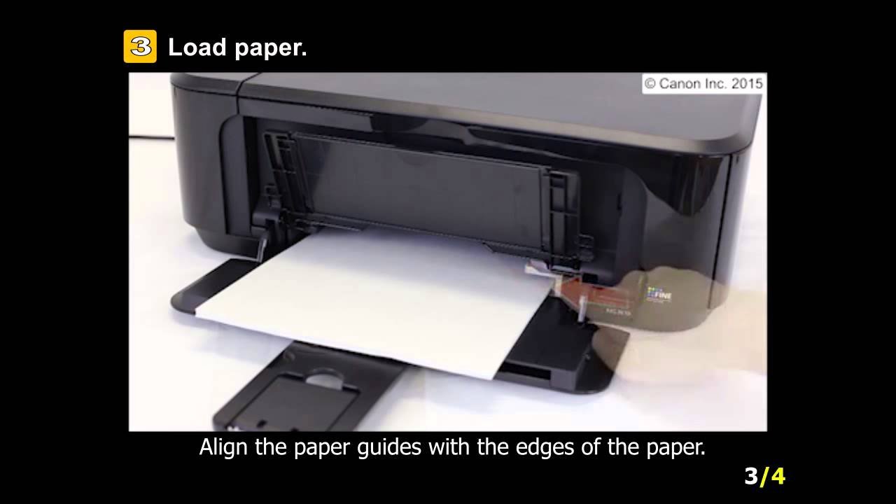 Pixma Mg3620 Setting Up The Paper For Printing Youtube