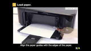 PIXMA MG3620: Setting Up the Paper for Printing