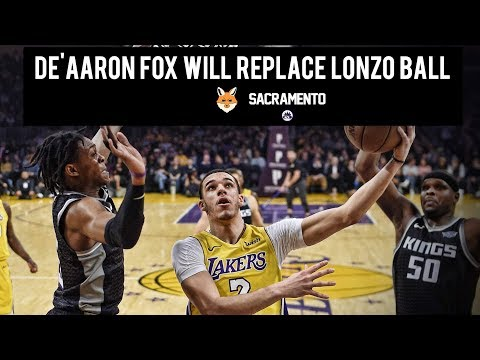 De'Aaron Fox will replace Lonzo Ball in the Rising Stars Challenge